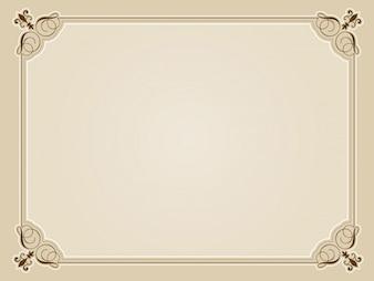 Design blanc certificat décoratif dans des tons sépia