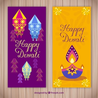 Design créatif de la bannière Diwali