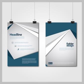 Design d'affiche bleu et blanc