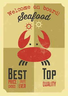 Design d'affiche de restaurant de fruits de mer