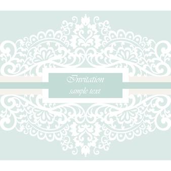 Design d'invitation ornementale