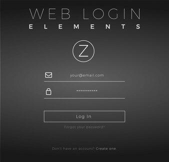 Design d'ouverture de session Web élégant
