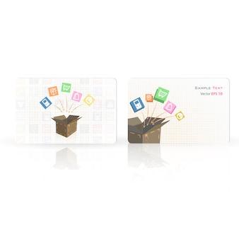 Design de bannière de boîte