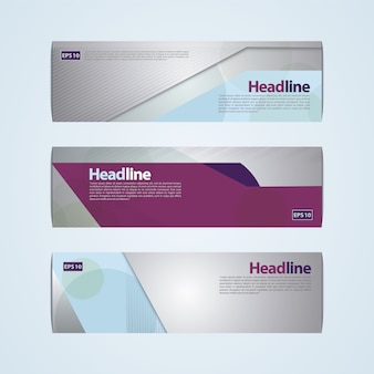 Design de bannière moderne