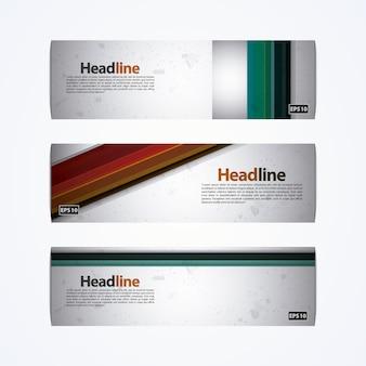 Design de bannière multicolore