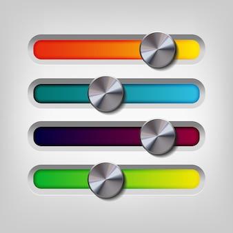 Design de barre multicolore