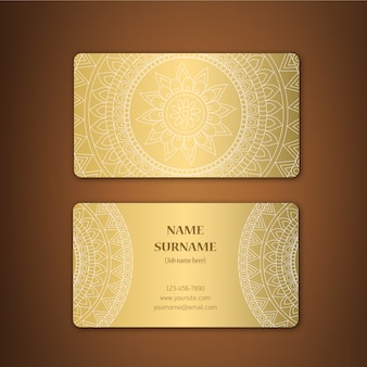 Design de carte d'affaires Golden