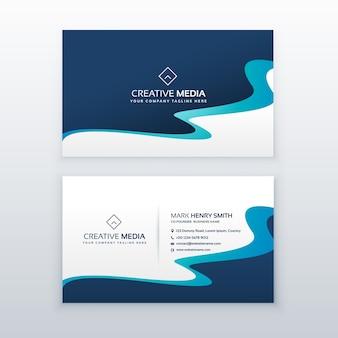 Design de carte de visite bleu incroyable pour votre marque