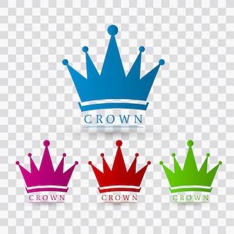 Design de couronnes colorées