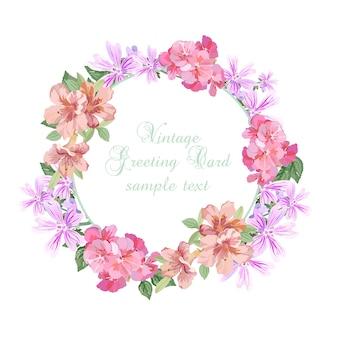 Design de fleurs de couronnes