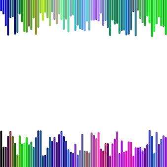 Design de fond coloré moderne à partir de rayures verticales arrondies - graphique vectoriel abstrait