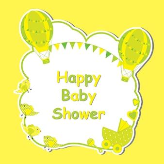 Design de fond de douche de bébé