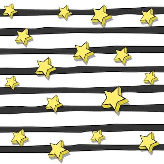 Design de fond de rayures et étoiles