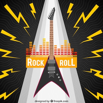 Design de fond Rock and Roll