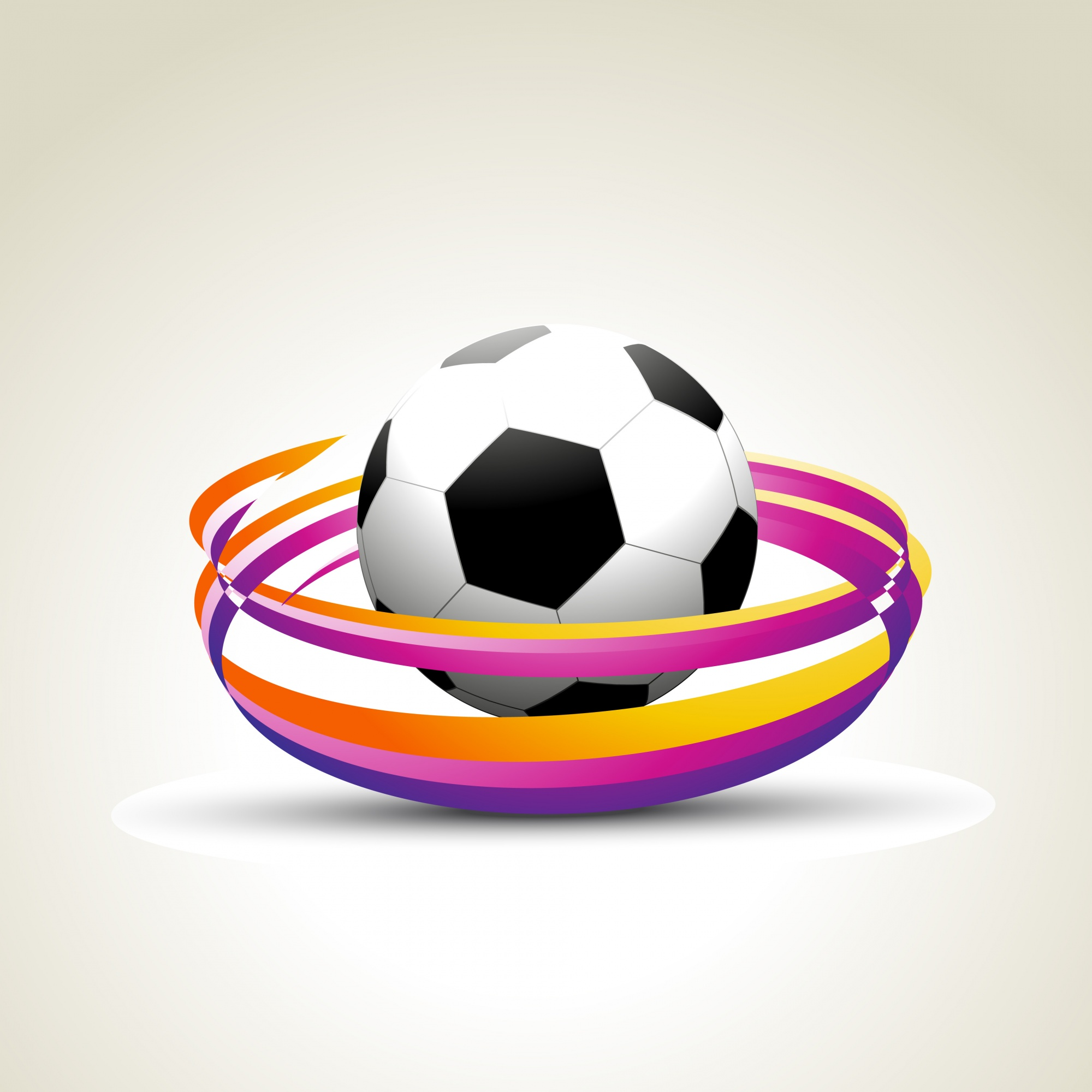 Design de football coloré
