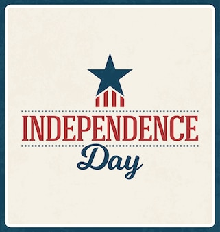 Design de la Journée de l'indépendance du 4 juillet
