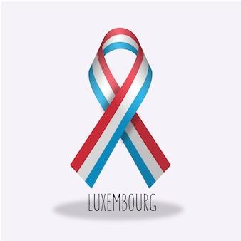 Design de ruban de drapeau luxembourgeois