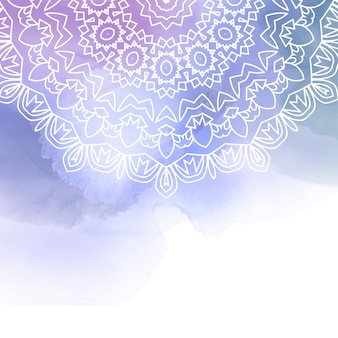 Design décoratif madala sur un fond d'aquarelle