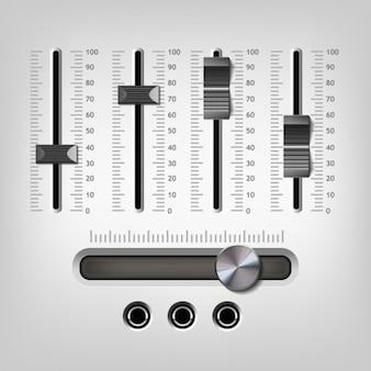 Design égaliseur gris