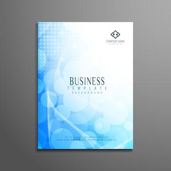 Design élégant et élégant de brochures commerciales bleues