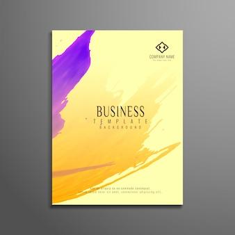 Design élégant et élégant de la brochure commerciale