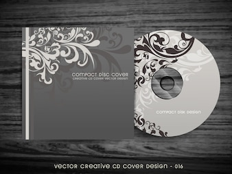 Design floral élégant de conception de couverture de CD