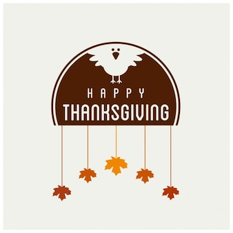 Design Happy label Thanksgiving Day