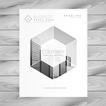 Design moderne de la page couverture du magazine en format A4