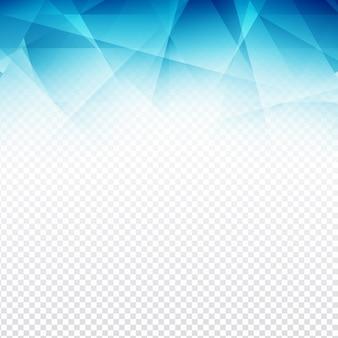 Design moderne en forme de polygone bleu sur fond transparent