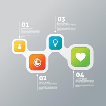 Design moderne infographique