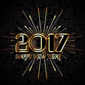 Design moderne pour la nouvelle année heureuse