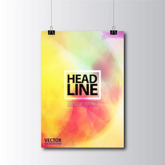 Design multicolore d'affiche