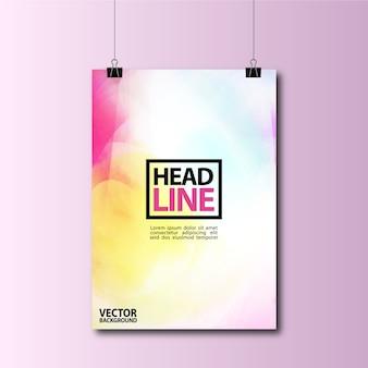 Design multicolore de fond d'affiche suspendue