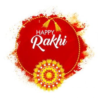 Design Rakhi coloré pour Happy Raksha Bandhan.