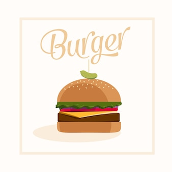 Design vectoriel Burger