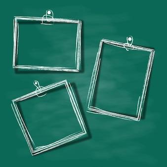 Dessiné à la main décor vintage frame