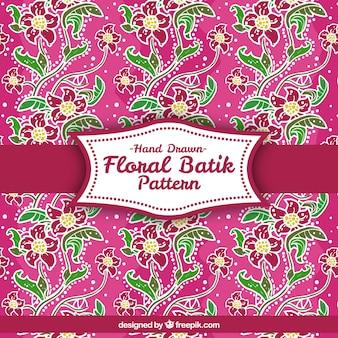 Dessiné à la main motif floral décoratif