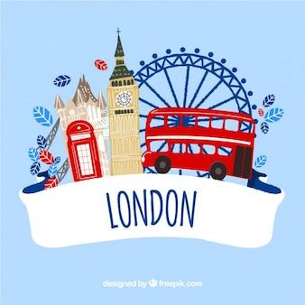 Dessinés à la main monuments de Londres