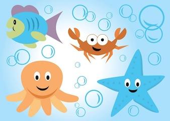 Dessins de la mer vecteur de vie