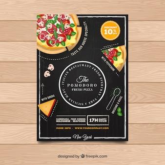 Détail du restaurant pizza