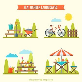 Différentes conceptions sur les paysages de jardin