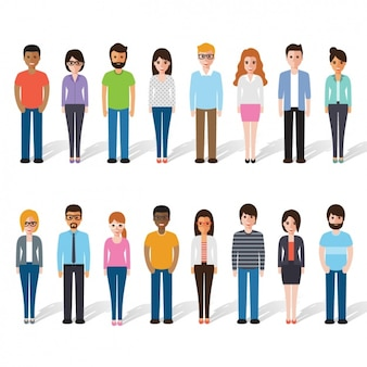 Différentes personnes debout