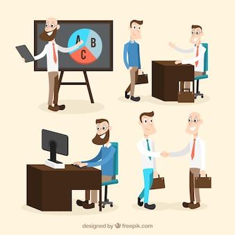 Différentes situations au travail