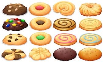 Différents types d'illustration de cookies