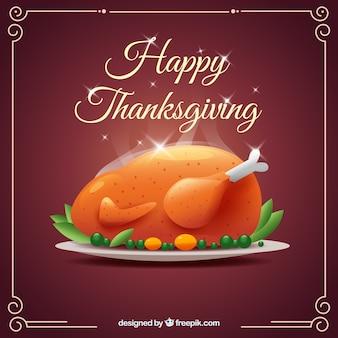 Dinde rôtie délicieux pour jour de thanksgiving