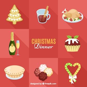 Dîner de Noël des aliments