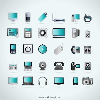 Dispositifs icônes de la technologie