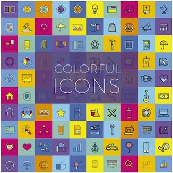 Divers icônes colorées
