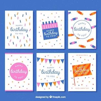 Diverses cartes d'anniversaire anciennes
