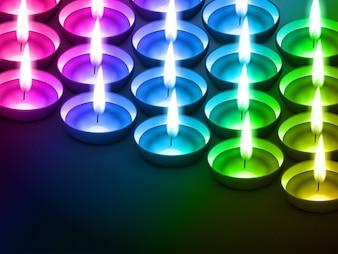 Diwali diya coloré avec de l'espace pour votre texte